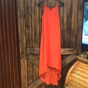 Old Navy Coral High-Low Maxi Dress Size Small